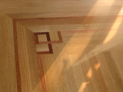 TOPNAIL WHITE OAK INSTALL WITH MAHOGONY INLAY